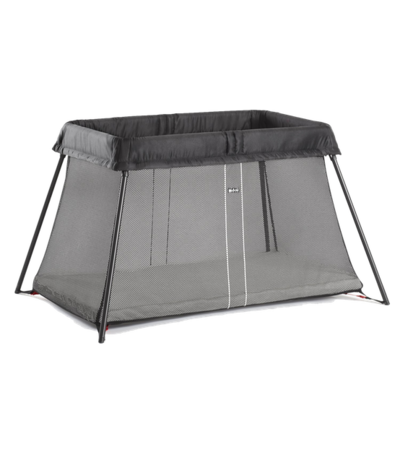 Babyjoern travel crib light black